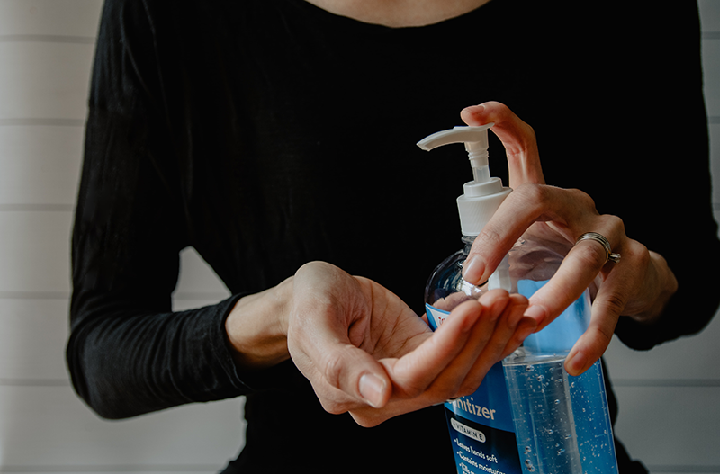Use hand sanitizer often to prevent covid-19 infection.