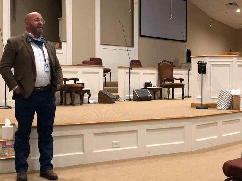 Mark speaking