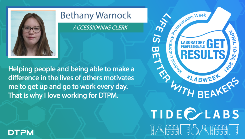 Lab Week 2021 quote from Tide employee Bethany Warnock