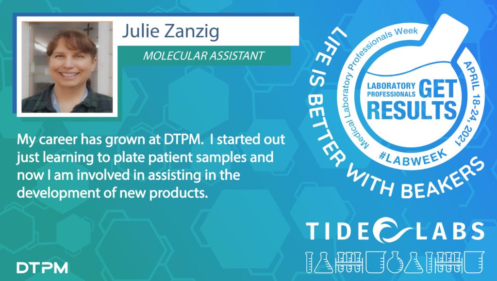 Lab Week 2021 quote from Tide employee Julie Zanzig