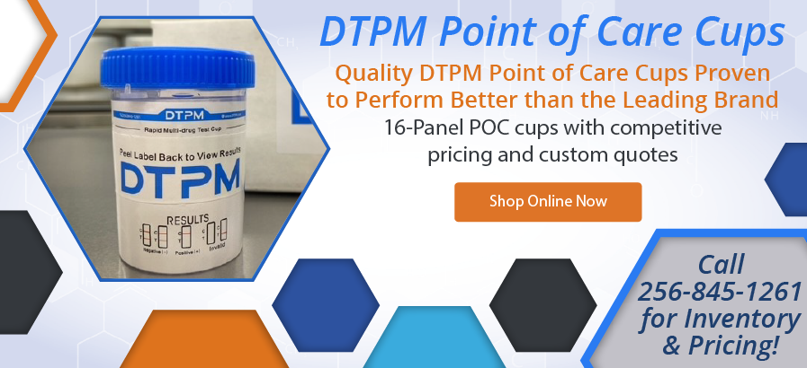 DTPM Point of Care Cups - Proven to perform better than the leading brand - Shop Now